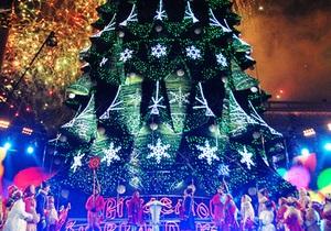 В центре Киева начался праздничный новогодний концерт