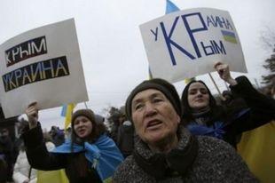 Крымские татары провели митинг против референдума