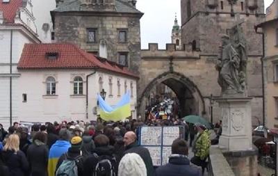 В Праге прошел антипутинский марш