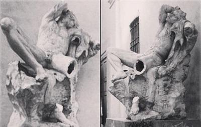 В Милане студент, пытаясь себя сфотографировать, отломил ногу статуе XIX века