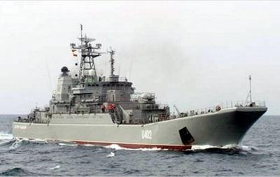 Боевую тревогу объявили на корабле Константин Ольшанский