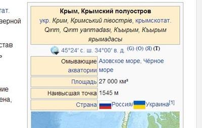 Россия требует от Google и Wikipedia указывать Крым как свою территорию