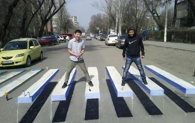 Студентка из Бишкека придумала революционную 3D-зебру, парящую в воздухе