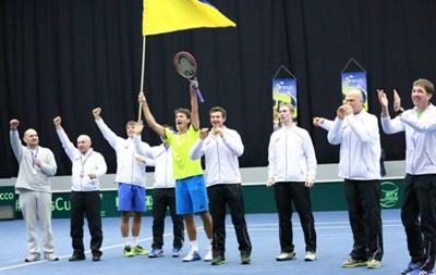 Сергей Стаховский приносит Украине победу в поединке Кубка Дэвиса