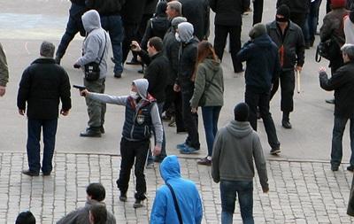 В центре Харькова - очередной митинг, есть пострадавший