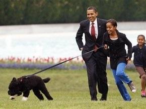 Обама показал свою новую собаку