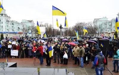 В Луганске на митинге за единство Украины объявили о создании Самообороны