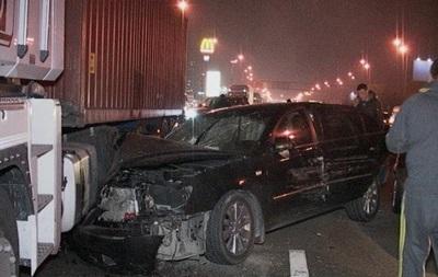 В Киеве столкнулись 11 автомобилей
