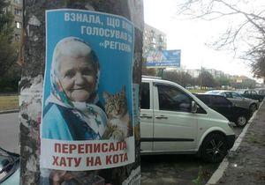 Листовки с бабушкой и котом появились в Киеве