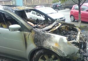 В центре Киева горели три автомобиля