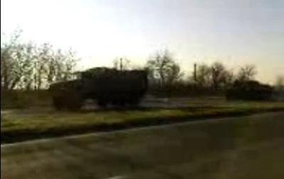 В сторону Луганска движется колонна военной техники
