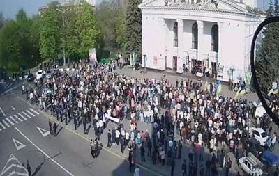 В Мариуполе проходит митинг за единство Украины