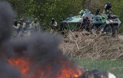 В Славянск прибыло подкрепление протестующих из Красного Лимана
