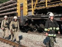 В Киеве перевернулись семь вагонов
