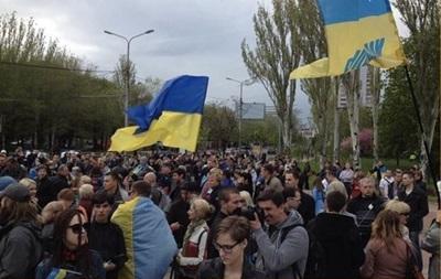 В результате нападения на митингующих в Донецке пострадали 14 человек - ОГА