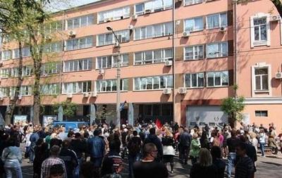 В Одессе пикетировали горуправление милиции, требуя отпустить пророссийских активистов
