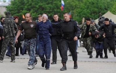 Вооруженные люди покинули областное управление ГСЧС в Донецке