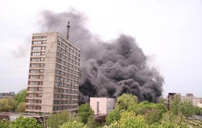 В здании горуправления милиции Мариуполя возник пожар