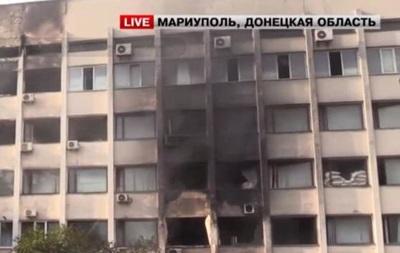 Здание Мариупольского горсовета выгорело частично - СМИ