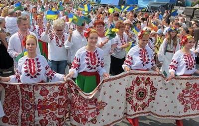 Украинцы по всему миру проведут Мегамарш в вышиванках