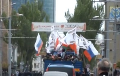 В сети появилось видео батальона  Восток  под флагами Беларуси в Донецке