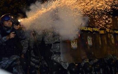 Полиция Бразилии применила слезоточивый газ против  недовольных ЧМ-2014