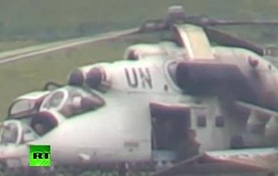 Украинский вертолет с символикой ООН в Славянске оказался вертолетом из Конго