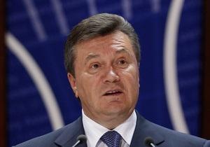 Янукович в ПАСЕ оговорился, назвав коррупционную систему в Украине  демократической