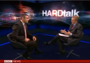Известный британский телеведущий окрестил Кличко  восходящей звездой украинской оппозиции