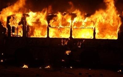 В Киеве на Троещине сгорел пассажирский автобус - ГСЧС