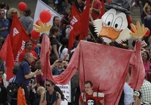 В акция движения Захвати Франкфурт участвовали более 20 тысяч человек