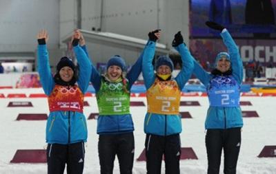 Украинские биатлонистки получили щедрое вознаграждение за медали Сочи-2014