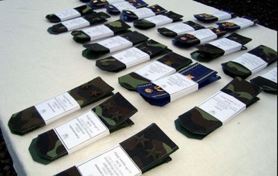 Минобороны повысило в звании 90 военных, участвующих в АТО