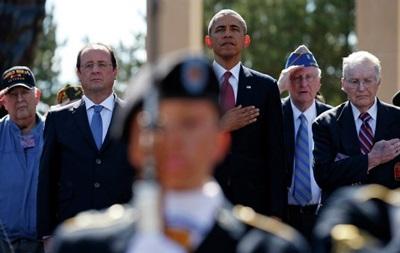 Французы раскритиковали Обаму, жующего жвачку на церемонии в честь D-Day