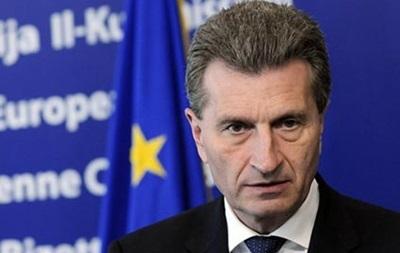 В ЕС объяснили, что Эттингер имел в виду под  переговорами Порошенко и Путина
