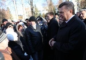 Милиция отрицает, что во время визита Януковича в Сумы людей не пускали в магазин