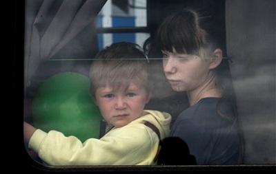 Дети-сироты из Снежного прилетели в Днепропетровск