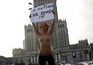 Варшавская полиция задержала активистку FEMEN под посольством России