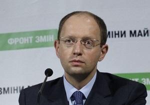 Яценюк: Литвин опоздал с роспуском парламента на два года