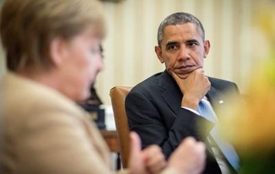 Обама и Меркель обсудили возможное введение новых санкций против России