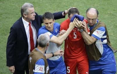 Защитник сборной Швейцарии попал в больницу с сотрясением мозга
