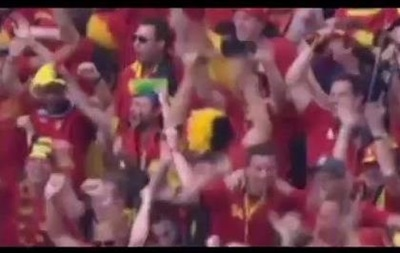 Комментатор матча Бельгия - Россия спел песню про Путина в прямом эфире
