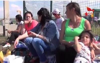 Беженцы на украино-российской границе - репортаж