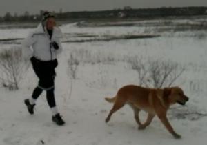 Тимошенко бегает с собакой по 10 километров