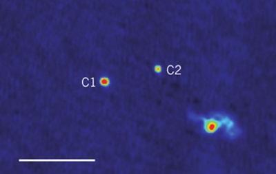 Астрофизики обнаружили систему трех сверхмассивных черных дыр