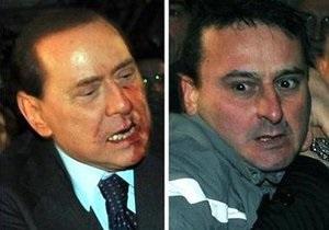 Напавший на Берлускони миланец 10 лет наблюдался у психиатра