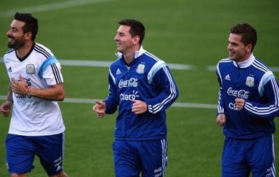 Аргентинцы перед матчем со Швейцарией тренировали пенальти