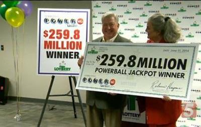 Американец выиграл в лотерею 259 миллионов долларов
