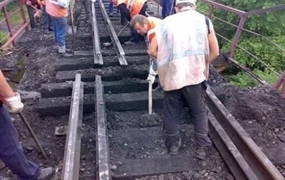 В Луганской области взорвали  ж/д мост через реку Теплая