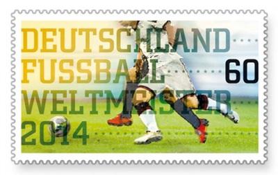 У Німеччині надрукували марки, присвячені перемозі бундестім на ЧС-2014, ще до фіналу